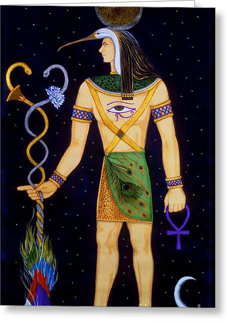Recently Sold -  - Horus Greeting Cards - Thoth-Djeheuty Greeting Card by Diveena Marcus