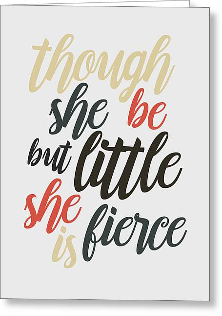 Business Woman Greeting Cards - Though she be but little Greeting Card by Taylan Soyturk