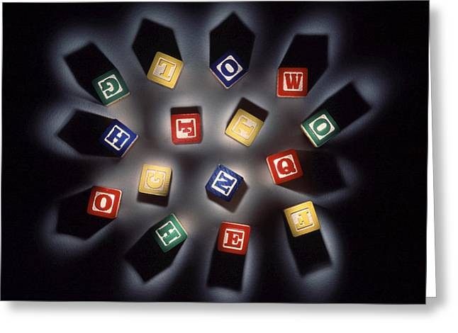 Literate Greeting Cards - Thought Fragments Greeting Card by Gerard Fritz