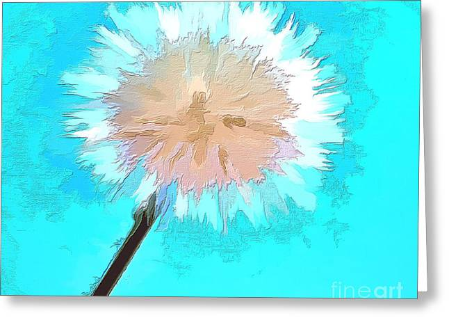 Abstract Digital Photographs Greeting Cards - Thoughtful Wish Greeting Card by Krissy Katsimbras