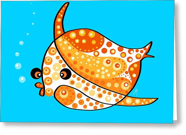 Decorative Fish Greeting Cards - Thoughts and colors series fish Greeting Card by Veronica Minozzi