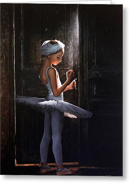 Innocence Greeting Cards - Thoughts before audition Greeting Card by Ivan Pili