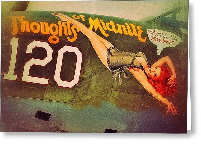 Bomber Photographs Greeting Cards - Thoughts of midnite Greeting Card by Pair of Spades