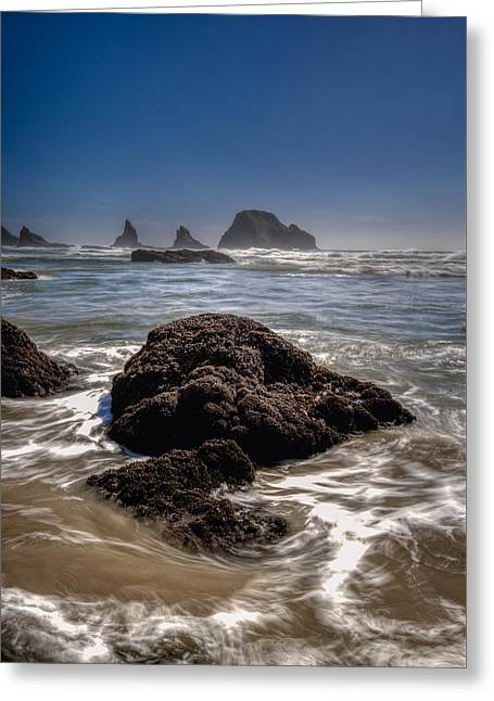 Ocean Landscape Greeting Cards - Three Arch Rocks Greeting Card by Drew Castelhano
