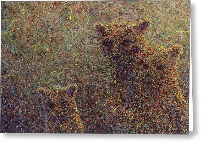 Three Bears Greeting Card by James W Johnson