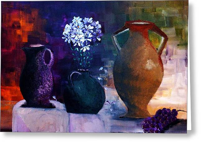 Ewer Paintings Greeting Cards - Three Best Friends Greeting Card by Lisa Kaiser