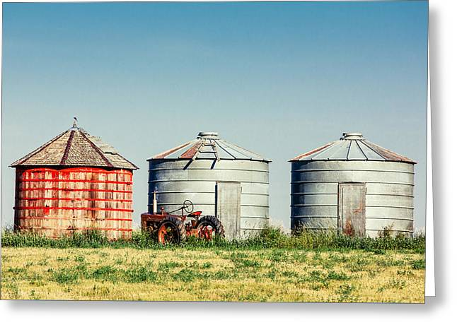 Three Bins Greeting Card by Todd Klassy