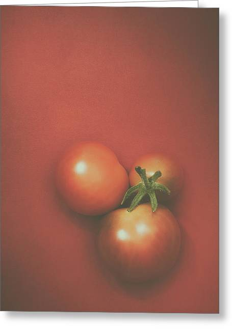 Three Cherry Tomatoes Greeting Card by Scott Norris