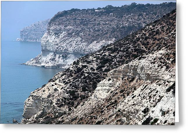 Cypriotic Greeting Cards - Three Cliffs in Cyprus Greeting Card by John Rizzuto