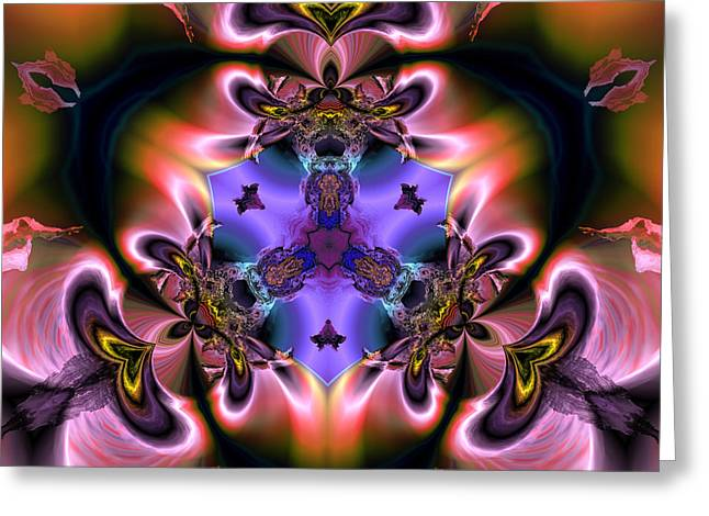 Generative Abstract Greeting Cards - Three color kingdoms Greeting Card by Claude McCoy