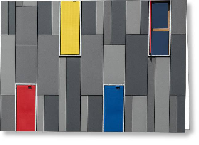 Three Colors And A Window Greeting Card by Jef Van Den