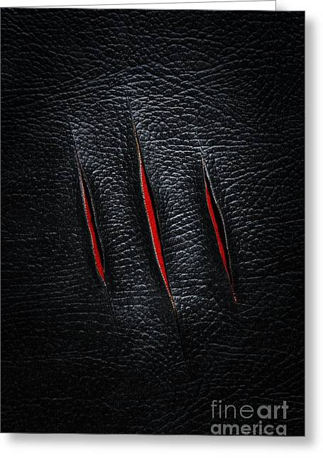 Penetration Greeting Cards - Three Cuts Greeting Card by Carlos Caetano