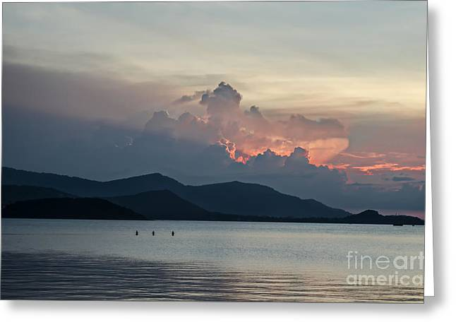 Michelle Greeting Cards - Three Fishermen Greeting Card by Michelle Meenawong
