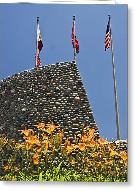 Flag Stone Greeting Cards - Three Flags in Memphis Tennessee Greeting Card by Douglas Barnett