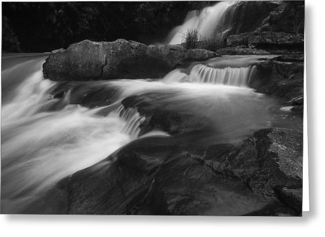 Water Flowing Greeting Cards - Three Floors Waterfall Greeting Card by Nam Tran