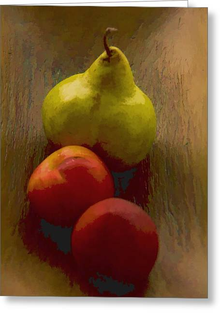 Three In A Bowl Greeting Card by Robert Meyerson