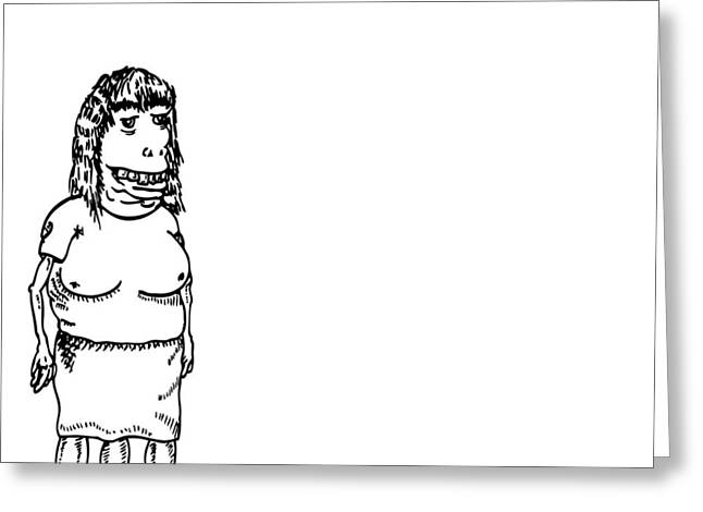 Ink Sketch Drawings Greeting Cards - Three Legs Greeting Card by Karl Addison