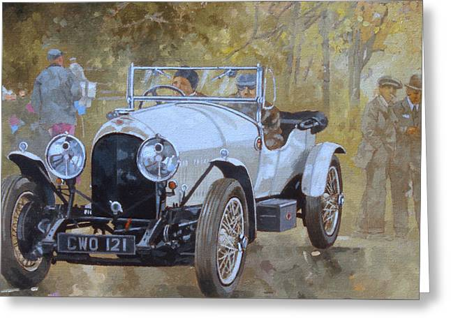 Stylish Car Greeting Cards - Three Litre Bentley at Kelmarsh  Greeting Card by Peter Miller