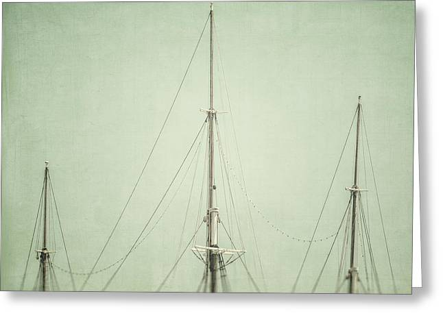 Three Masts Greeting Card by Lisa Russo