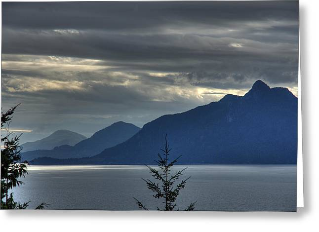 North Vancouver Greeting Cards - Three mountains. Greeting Card by Alexander Rozinov
