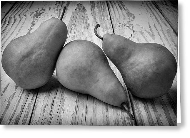 Three Pears Still Life Greeting Card by Garry Gay