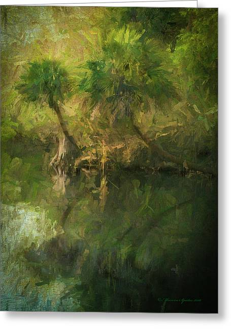 Three River Palms Greeting Card by Marvin Spates