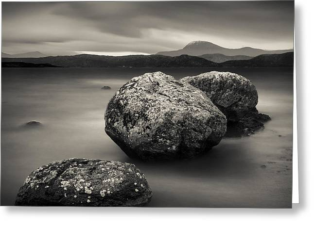 Peaceful Scenery Greeting Cards - Three Rocks Greeting Card by Dave Bowman