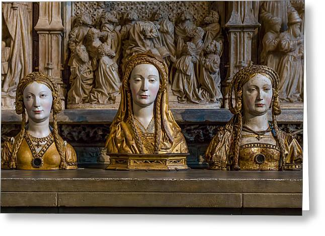 Medieval Temple Mixed Media Greeting Cards - Three Saints Greeting Card by Capt Gerry Hare