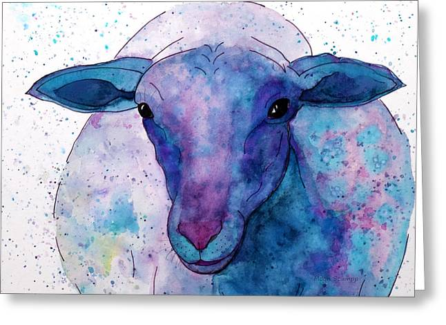 Paper Moon Greeting Cards - Three Sheep, 2 of 3 Greeting Card by Moon Stumpp