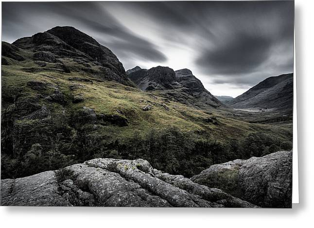 Three Sisters Greeting Card by Dave Bowman