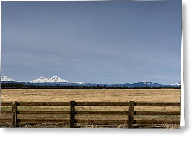Nature Greeting Cards - Three Sisters Panorama Greeting Card by Helix Games Photography