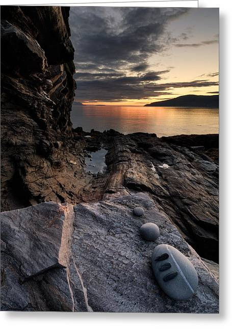 Stones Photographs Greeting Cards - Three Stones Greeting Card by Tor-Ivar Naess