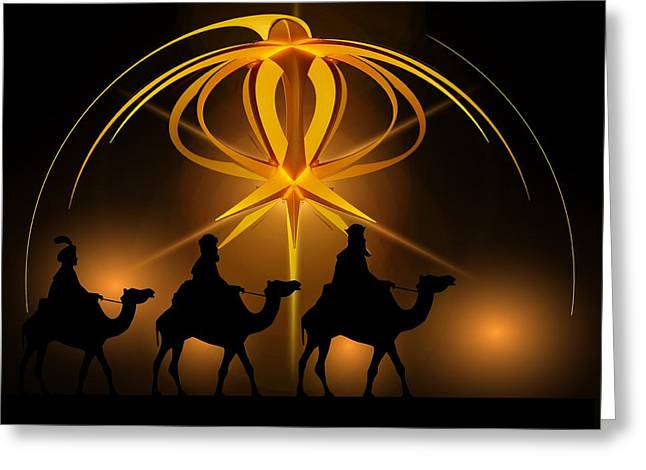 Three Wise Men Christmas Card Greeting Card by Bellesouth Studio