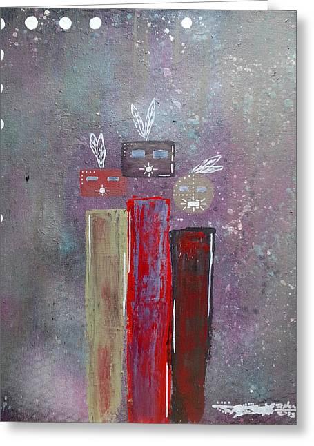 Yei Greeting Cards - Three Yei Greeting Card by Daryl  Begaye