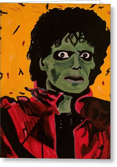 Mj Paintings Greeting Cards - Thriller Greeting Card by Austin James