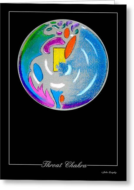 Healing Pastels Greeting Cards - Throat Chakra Greeting Card by John Quigley
