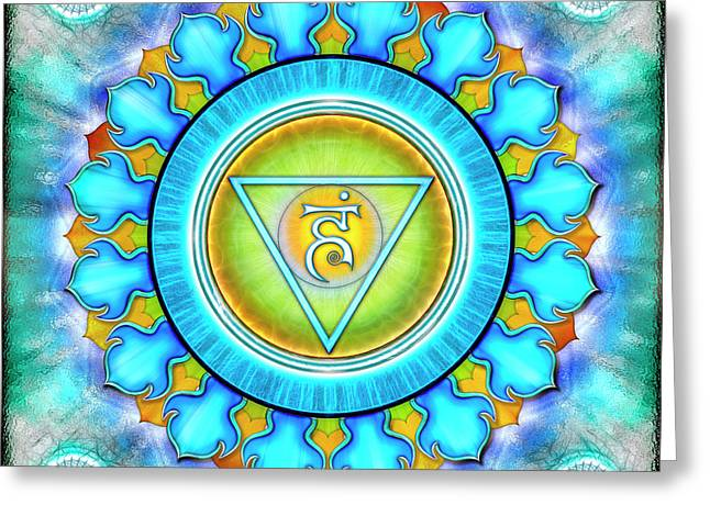 Throat Chakra - Series 3 Greeting Card by Dirk Czarnota
