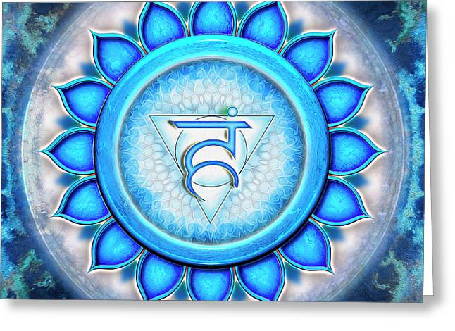 Throat Chakra - Series 5 Greeting Card by Dirk Czarnota