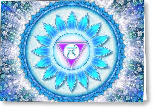 Throat Chakra - Series 6 Greeting Card by Dirk Czarnota