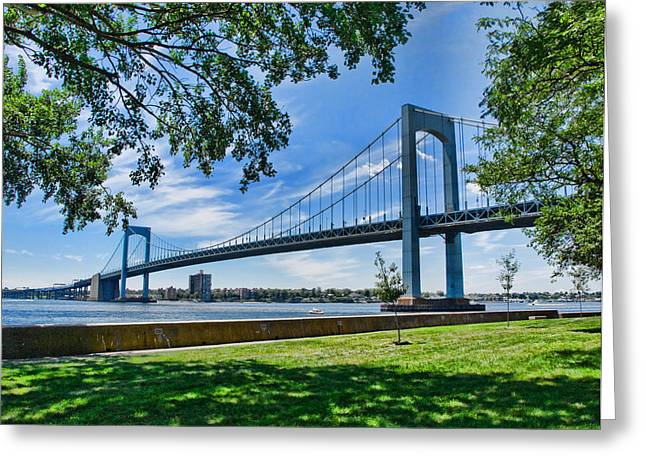 Commute Greeting Cards - Throgs Neck Bridge Greeting Card by June Marie Sobrito