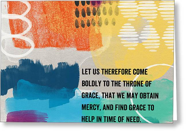Faith Greeting Cards - Throne Of Grace- Contemporary Christian Art by Linda Woods. Greeting Card by Linda Woods