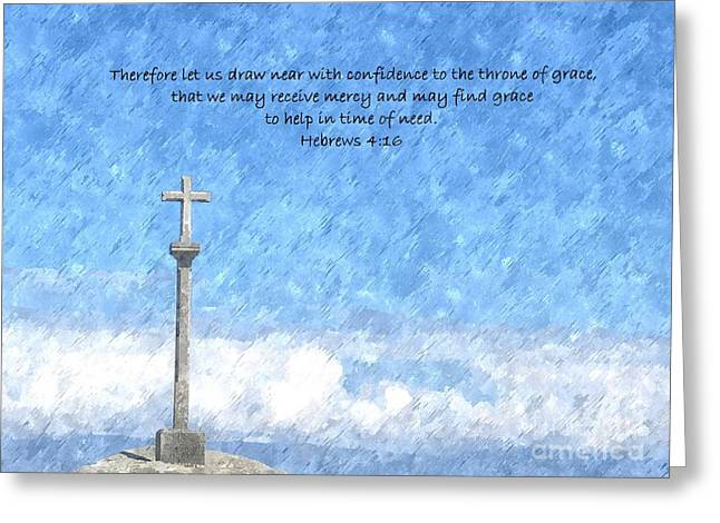 Throne Of Grace Greeting Card by Sara Raber
