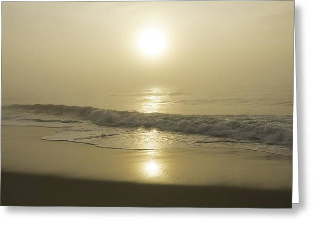 Foggy Beach Greeting Cards - Through the Fog I Greeting Card by Steven Ainsworth
