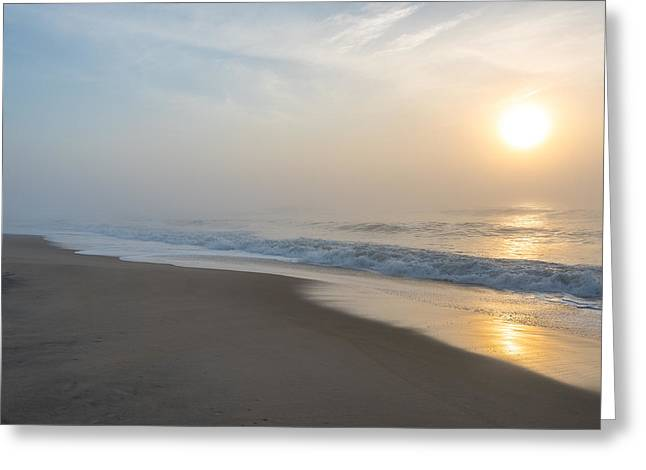 Foggy Beach Greeting Cards - Through the Fog II Greeting Card by Steven Ainsworth