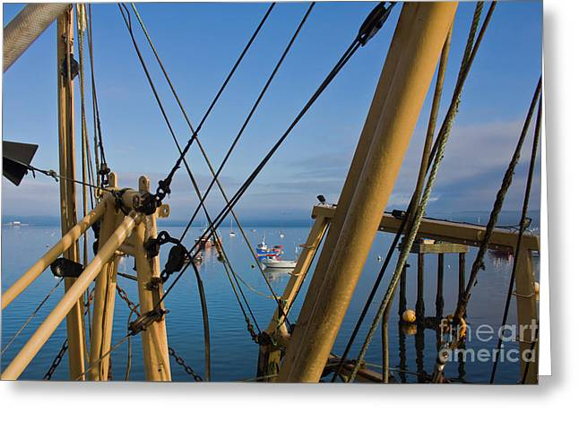 Through The Rigging Greeting Card by Terri Waters
