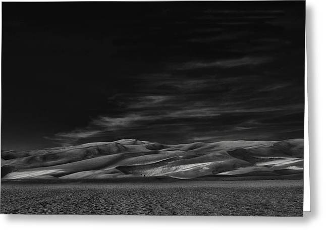Sand Dunes Greeting Cards - Through The Silence Something Throbs ... Greeting Card by Yvette Depaepe