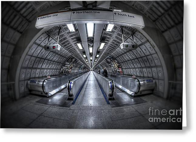 London Structure Greeting Cards - Through The Tunnel Greeting Card by Evelina Kremsdorf