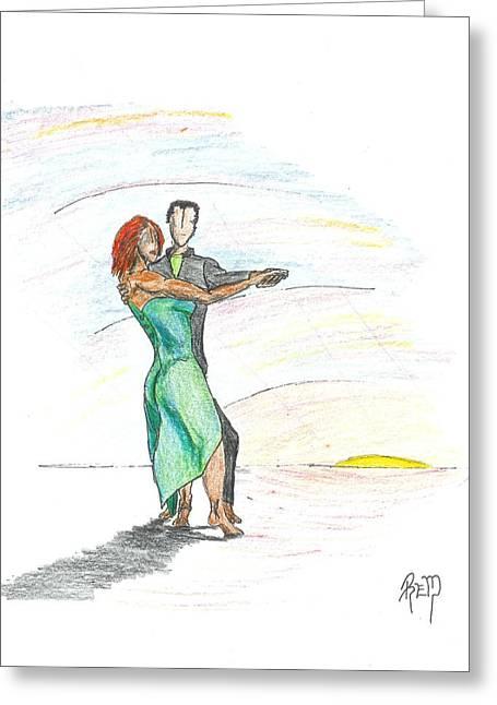 Recently Sold -  - Robert Meszaros Greeting Cards - Through til Dawn... Sketch Greeting Card by Robert Meszaros