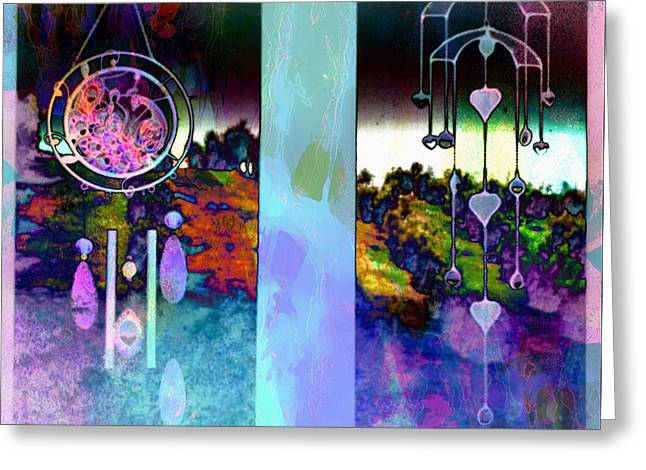 Cultivation Digital Art Greeting Cards - Through to the Groves Dusk Greeting Card by Dorothy Berry-Lound