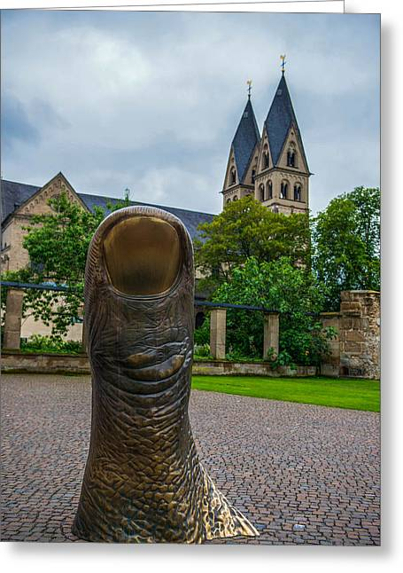Thumbs Up Greeting Cards - Thumbs up in Koblenz Greeting Card by Martina Thompson